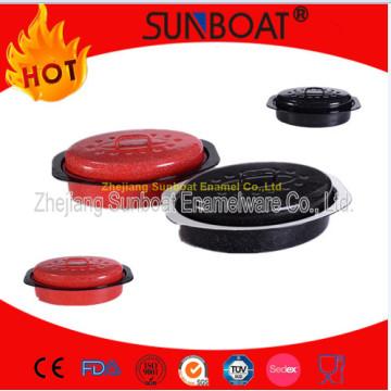 Sunboat Enamel Oval Roaster Kitchenware/ Enamelware