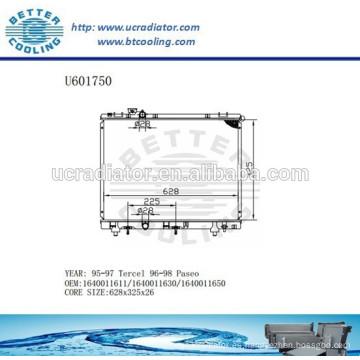 RADIADOR 1640011611/1640011630/1640011650 para TOYOTA 95-97 Tercel Fabricante Y Venta Directa!