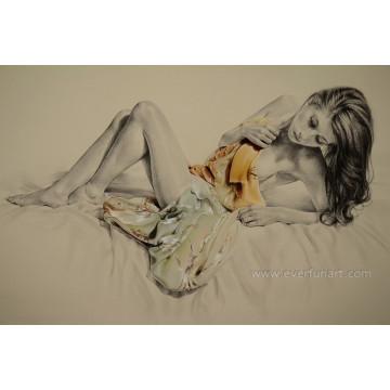 Schöne sexy nackte Frauen Fotos Malerei