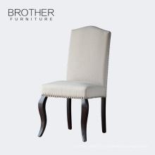 Meubles de salle à manger moderne tissu en bois à manger chaises
