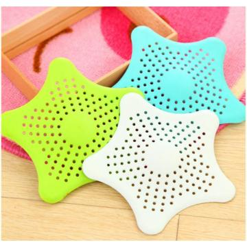 Colorful Silicone Hair Catcher Shower Drain Filter