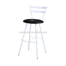 High Metal Bar Chair Steel Tube, White Backrest Bar Chair Metal Frame