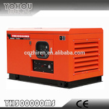 20kw/25kva 3-phase gasoline generator with soundproof canopy