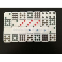 Double nine Color Domino game set with customized case