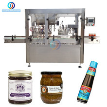 Good price customized Automatic Hot Sauce Jam Tomato Paste Bottle Filling and Sealing Packing Machine