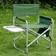 Aluminium pliante chaise réalisateur avec plaque de coupe et sac Magazine