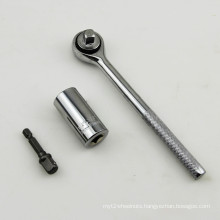 New Products 7-19mm Gator Grip +Ratchet +Drill Adapter Universal Socket
