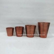 Florero de cerámica decorativo casero moderno del estilo