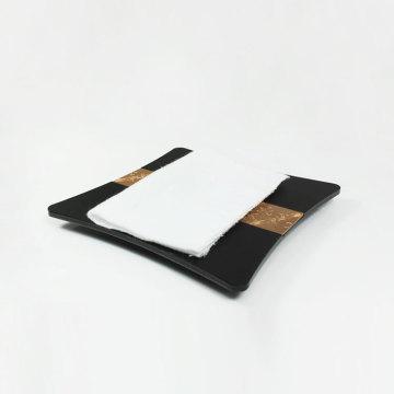 Bandeja para toalhas de mão APEX Luxury Black Hotel Service