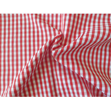 Ready Stock Polyester Cotton Checks Yarn Dyed Shirt Fabric