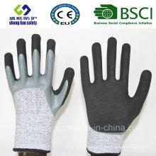 Gants de sécurité en caoutchouc nitrile doux trempé 13G Hppe / Glass Fiber Liner