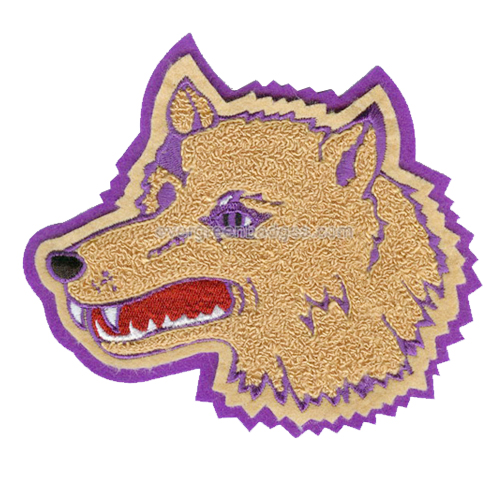 Wolf Head Personalized Brand Custom Wholesale Big Fabric