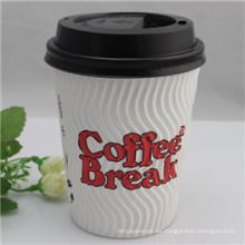 Tazas de café desechables de papel de una sola pared