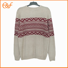 Jacquard Sweater Pullover Merino Wool Design