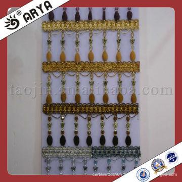Perles personnalisées en plastique et rideaux fabriqués à la maison et au jardin