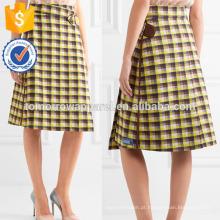Moda de Nova Verificada Jacquard-knit Envoltório Lápis Saia DEM / DOM Fabricação Atacado Moda Feminina Vestuário (TA5128S)