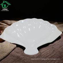 Vente en gros de soupe en céramique Chaozhou pour les restaurants, assiette bon marché en porcelaine