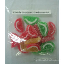 Fruit Flavor Watermelon Shaped Jelly Slice Gummy candy 3.5g/piece