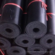 smooth texture surface textile insertion rubber sheet with 2ply cloth