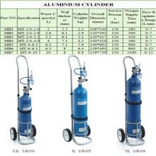 Mt-6-10 Portable Medical Aluminum Oxygen Gas Cylinder