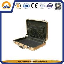 Mallette aluminium doré moyen avec poches (HL-5205)