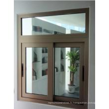Fenêtre coulissante en aluminium couleur champagne