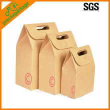 retailer die-cut handle kraft paper gift bag