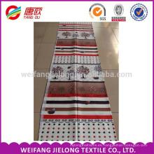 Productos listos para maderas de color rojo intenso que imprimen telas de cama de algodón 100%