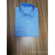 Herren Langarmhemd aus Jacquard, 100% Baumwolle, Slim Fit