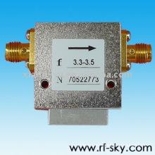 Circulador de banda ancha Rf de 20W 1.4 VSWR 3-6GHz