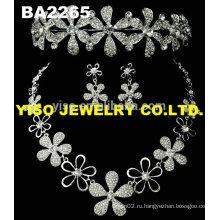 Свадебное свадебное кристаллическое ожерелье