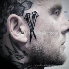 Etiqueta completa masculina do tatuagem do papel 3d da tatuagem do corpo para homens