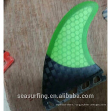 new year launch half carbon green honeycomb fins future base fins on surf