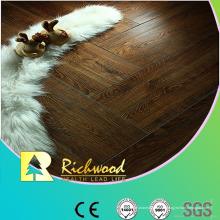 12 mm HDF en relieve Hickory V-Grooved encerado filo Lamiante suelo