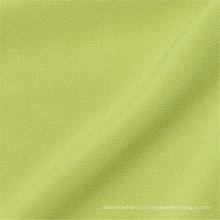 Tissu de mode en mousseline de soie teint extensible en polyester lisse