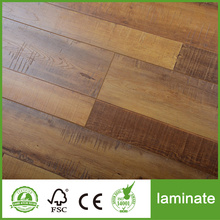 Handscraped HDF AC4 wooden Laminate Flooring