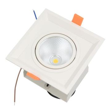Dimmable COB Praça LED Grille Luz Recessed LED Downlight Teto