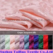 Reaktiv bedruckte Crepe Jacquard Seide für Seide Quit Fabric