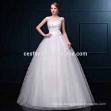 2016 Romance Los más populares Strapless Big Ball Gown Vestidos de novia