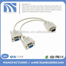 VGA 1 TO 2 Y SPLITTER KABEL MONITOR LCD DUAL ANZEIGE