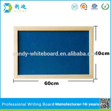wood framed bulletin board with bule surface,bulletin board with wall hanging,desktop bulletin board