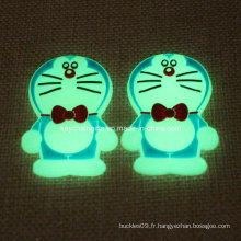Promotion Custom PVC Doraemon avec Golw in Dark
