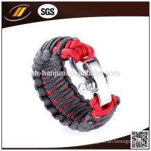 Hotsale Plastic Buckle Paracord Bracelet with Logo Engraved (HJ-7011)