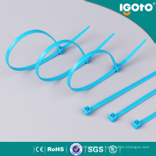 Brida de nylon azul para cables