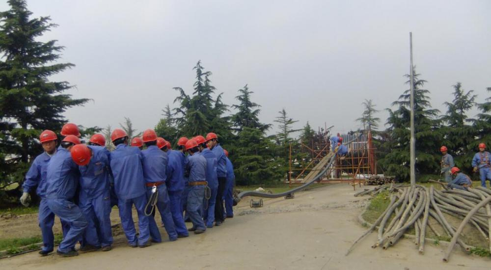 220KV 1X1600SQMM CABLE LAYING OUT IN BEIJING
