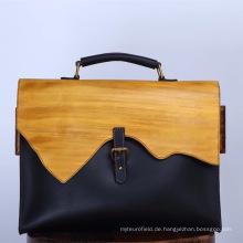 Herrenhandtasche aus reiner handgemachter Rindsleder