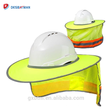 Oi Viz Malha Capacete Protetor Solar Protetor de Alta Visibilidade Reflective Full Brim Chapéu Duro Sombra para Obras Ao Ar Livre