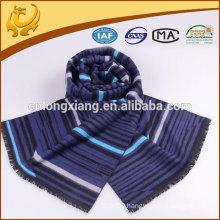 30*180cm Tripe Three Colours 100% Silk Men's Scarf