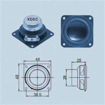48mm square 4ohm 10w neodymium full-range speaker