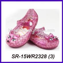 Новые дети лиса детей ПВХ сандалии последний стиль сандалии мини мелисса